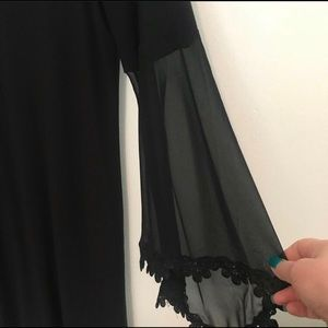 Black dress with bell sleeves
